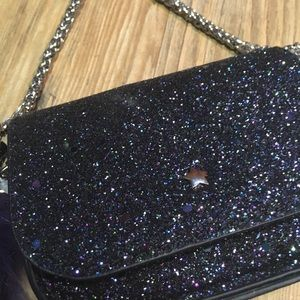 Free People midnight sparkle clutch NWT